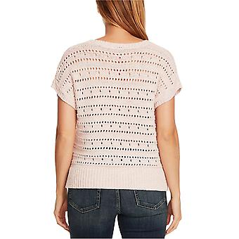Vince Camuto Womens Open-Stitch Sweater