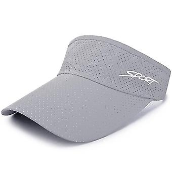Golf Cap Breathable, Quick-drying, Adjustable, Sports Visor Hats For Summer,(Light Grey)