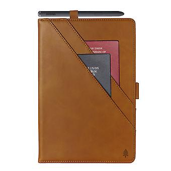 Case For Ipad Mini 5 2019 Genuine Quality Leather Stand Cover With Multiple Viewing Angles Wake/sleep Enabled - Cafe