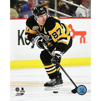 Impressão de fotos de ação Sidney Crosby 2016-17