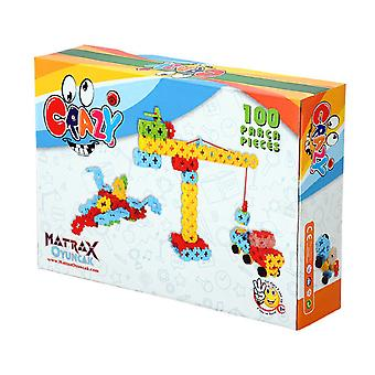 Matrax Crazy Creative Blocks, 100 Pieces, In Carton Box, Educational Brain Teaser Game, For Children Ages 3 and Up
