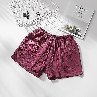 Loungewear الصيف زوجين النوم السراويل القطن كريب ملابس النوم