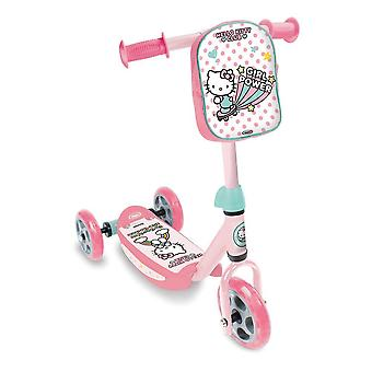 Hello Kitty Club Children's Three Wheel Tri-Scooter with Removable Bag