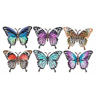 Petits papillons métalliques brillants