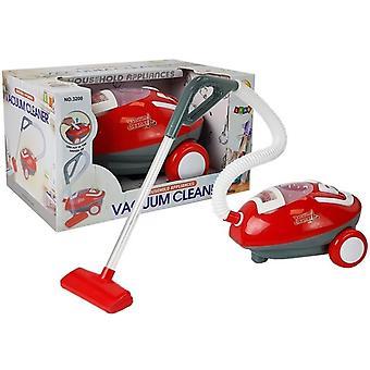 Spielzeugstaubsauger mit Sound - Rot und Weiß - 25cm