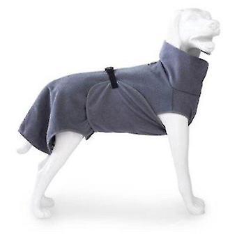 Dog apparel dog bathrobe doggy dry 33 cm microfibre grey