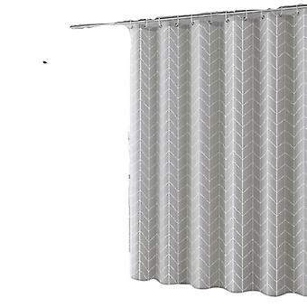 Wolka 10 Pcs Impermeable Cortina de Ducha Anti-mildiu 180x180cm Con 12 Anillos Ganchos Gris