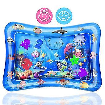 Tummy Time Water Mat Tapis de jeu gonflable Jouets sensoriels parfaits pour l'activité de développement précoce de bébé