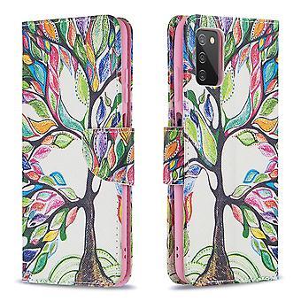 Étui pour Samsung Galaxy A03s Pattern Cover Folio avec béquille Arbre de vie