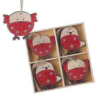 Heaven Sends Winter Robin Christmas Tree Decorations