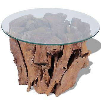 Chunhelife Couchtisch Solid Teak Treibholz 60 Cm