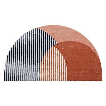 Semi-circular Area Rug Anti Slip Door Mat Entrance Floor Mats Carpet