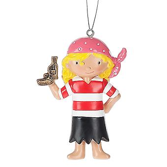 Little Pirate Girl Christmas Holiday Ornament 3.25 Inches