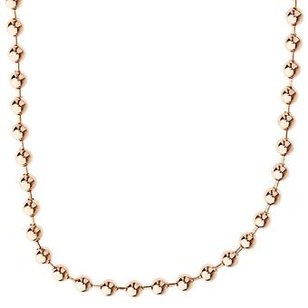 925 Sterling Silver Bling Chain - BALL 4mm rose gold