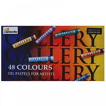Inscribe Oil Pastels 48 Colours