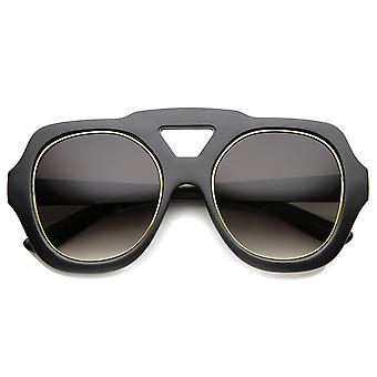 Unisex Oversized Sunglasses With UV400 Protected Composite Lens