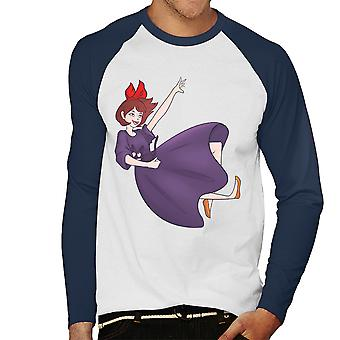 Kiki And Her Cat Kikis Delivery Service Studio Ghibli Men's Baseball Long Sleeved T-Shirt