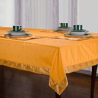 Yellow - Handmade Sari Tablecloth (India)