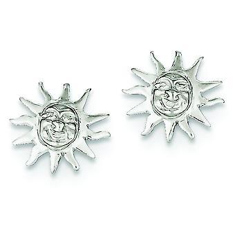925 Sterling Silver Polished Post Earrings Sun Mini for boys or girls Earringss - 1.6 Grams