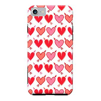 ArtsCase Designers casos Peachy ArrowHearts para iPhone dura 8 / iPhone 7