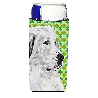 Great Pyrenees Lucky Shamrock St. Patrick's Day Ultra Beverage Insulators for sl