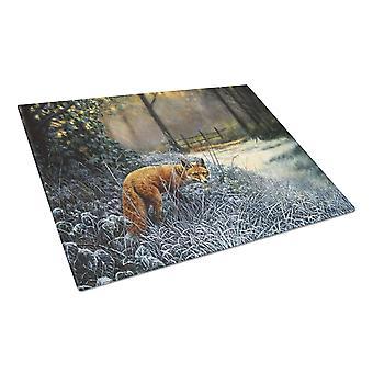 Carolines Treasures  BDBA0347LCB Fox on the Hunt Glass Cutting Board Large