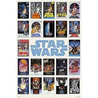 Star Wars Worldwide One Sheet Compilation Poster Poster Print