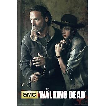 The Walking Dead Season 5 Rick & Carl Poster Poster Print