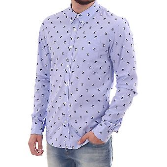 Scotch & Soda Ls Fine Check With Floral Print