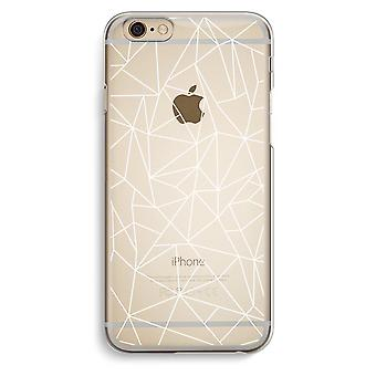 IPhone 6 6 s transparentes Gehäuse (Soft) - weiße geometrischen Linien