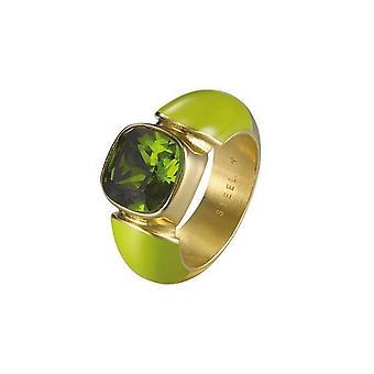 Joop kvinders ringe rustfrit stål guld grøn cubic zirconia JPRG10594D