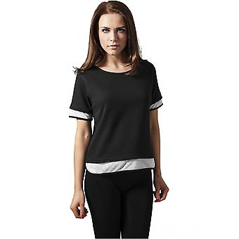 Urban Classics Damen T-Shirt Terry Mesh