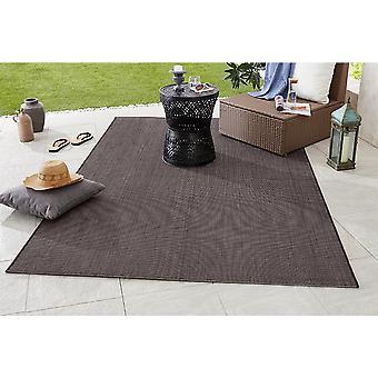 Diseño y tejido plano Outdoorteppich fósforo negro