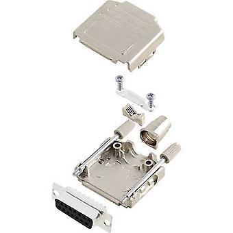 encitech DPPK15-M-DMS-K 6355-0004-32 D-SUB opvangbakje set 180 ° aantal pinnen: 15 soldeer emmer 1 set