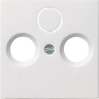 GIRA Cover TV, Radio socket System 55, Standard 55, E2, Event, Event Tranparent, Event Opaque, Esprit, ClassiX Clean white (glossy) 086903