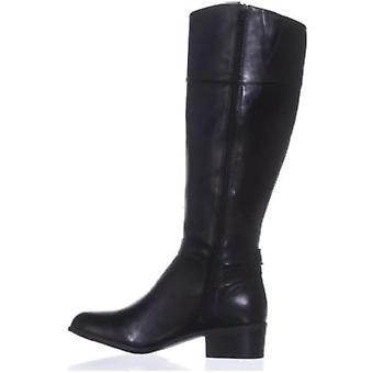 ALFANI Womens Berniee Leder geschlossene Zehe Mode kniehohe Stiefel