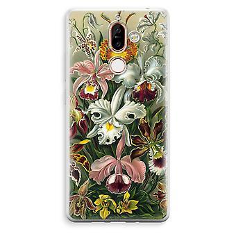 Nokia 7 Plus boîtier Transparent (doux) - Haeckel Orchidae