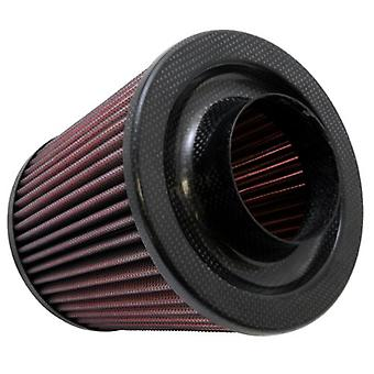 K&N RP-5044 Universal Clamp-On Air Filter: Round Tapered; 3 in (76 mm) Flange ID; 6 in (152 mm) Height; 6 in (152 mm) Ba