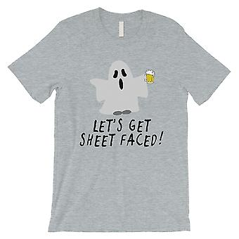 Let's Get Sheet confronté Mens gris T-Shirt
