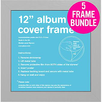 GB Posters 5 Silver Album MDF Poster Frames 12
