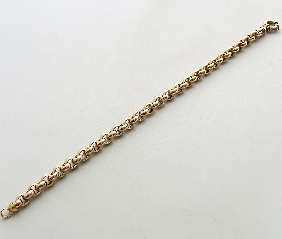 14 carat gold jasseron bracelet