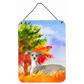 Fall Italian Greyhound Wall or Door Hanging Prints