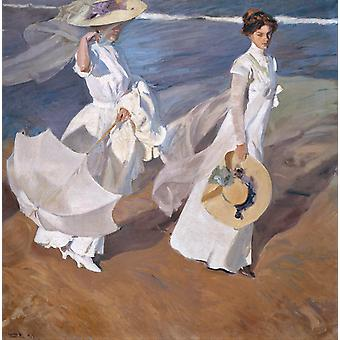 Walk on the Beach, Joaquin Sorolla Y Bastida, 50x50cm