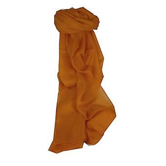 Mulberry Silk Hand Dyed Long Scarf Gold from Pashmina & Silk