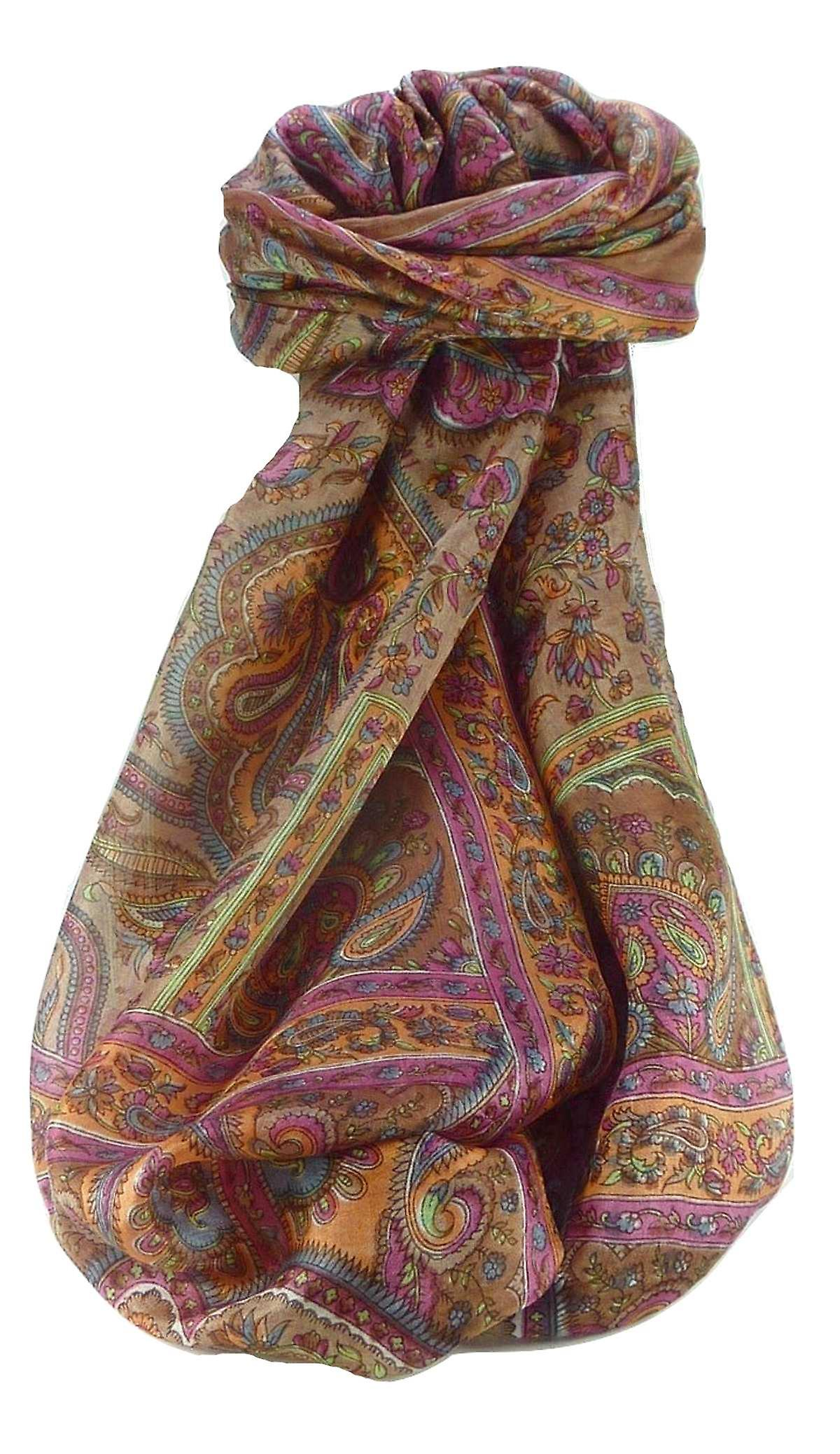 Mulberry Silk Traditional Long Scarf Madh Copper by Pashmina & Silk