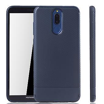 Huawei Mate 10 לייט מקרה טלפון מגן מקרה פחמן אופטי פגוש כחול