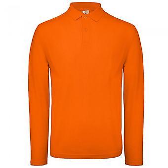 B&C Collection Mens Long Sleeve Polo Shirt