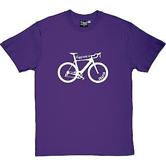 Happiness Is Racing Bike Shaped Purple Men's T-Shirt