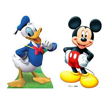 Mickey Mouse and Donald Duck Lifesize Cardboard Cutout / Standee  Set