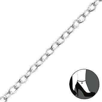 Heart - 925 Sterling Silver Anklets - W1998X